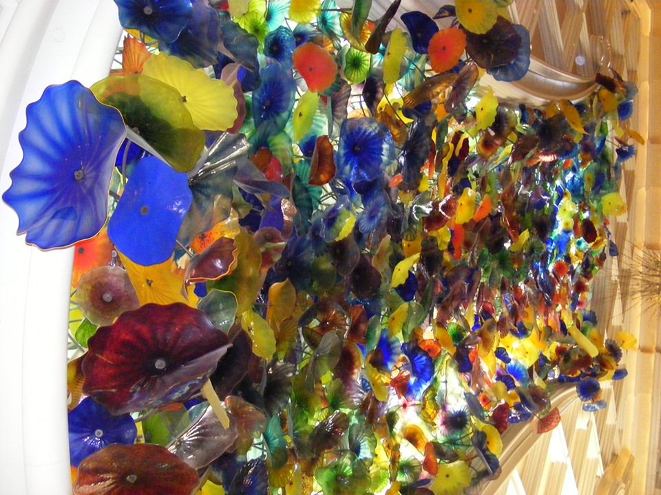 Bellagio Ceiling- free things to do in Las Vegas